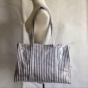 Henri Bendel Signature Striped Waterproof Tote Bag